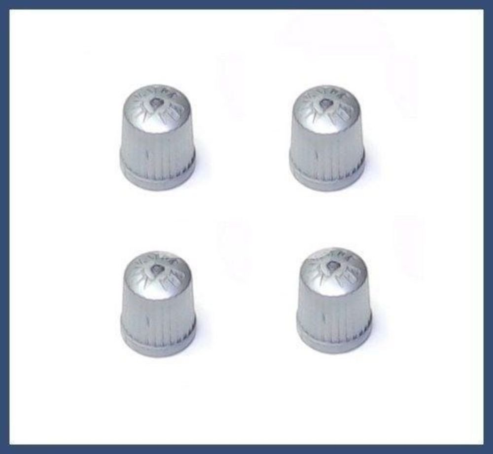 tire air fill screw on cover BMW TPMS Wheel Valve Stem Cap set Gray x4