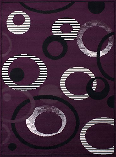 8' Lilac Area Rug - United Weavers of America Dallas Hip Hop Rug, 5 x 8', Lilac