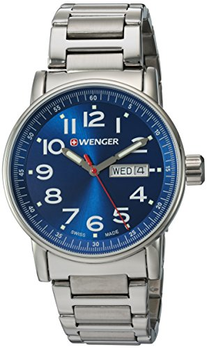 Wenger-Mens-Attitude-DayDate-Swiss-Quartz-Stainless-Steel-Casual-Watch-ColorSilver-Toned-Model-010341105