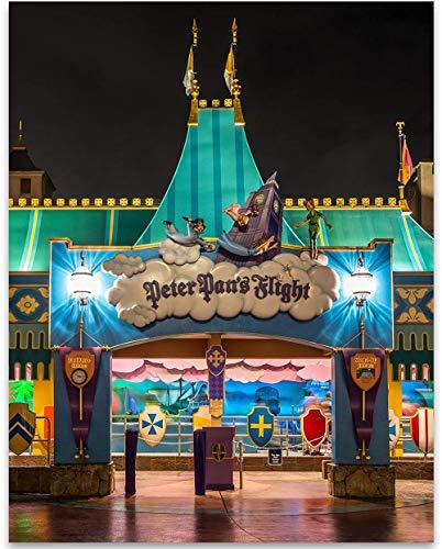 Peter Pan's Flight - 11x14 Unframed A Print - Makes a Great Gift Under $15 for Disney - Pan Flight