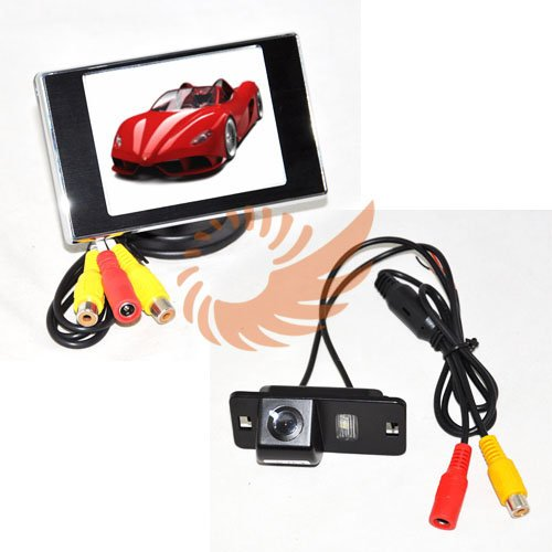 For BMW 3/5/X5/X6 Kit 3.5'' LCD TFT Rearview Monitor Car Backup Camera Brand New