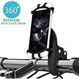 IRUNME Bike Phone Mount,Holder,for Bike,Motorcycle Handlebars,Fits iPhone XS/XS Max/X/8/8 Plus/7/6,Samsung Galaxy S9/S8/S7 Edge/Note9/Note8& Universal 4''~6.5'' Phones,360 Rotation Cradle,Stand