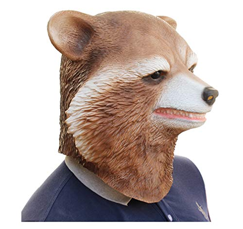 JJWW Halloween Horror Scary Mask Brown Bear