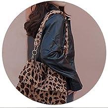 Fur Bag animal print leopard bag women ies winter warm crossbody bags Large Capacity shoudler Clutch