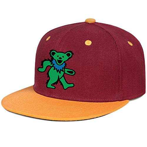 Adult Grateful Dead Green Dancing Bear Costumes - WZLAN Snapback Baseball Caps Adjustable Flatbrim