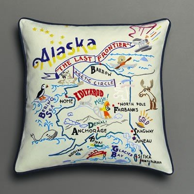 Alaska Pillow by Catstudio Embroidered Pillow