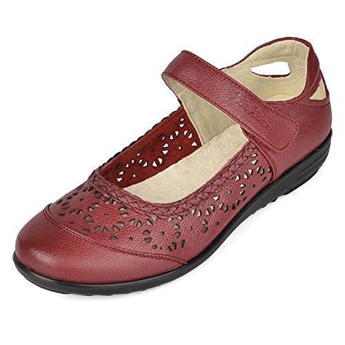 grande de Velcro Zapatos de zapatos los mamá talla de de de Zapatos B mujeres Asakuchi las hueco nHBZqAHw