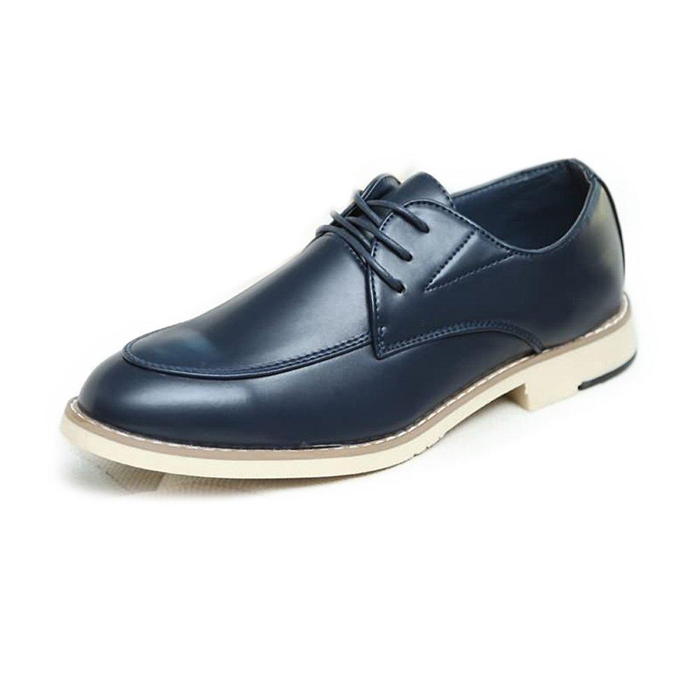 HYF Men's Oxford Flat Heel Business Shoes Up To Size 9.5MUS Dress Shoes Business Shoes for Men (Color : Blue, Size : 9 MUS)