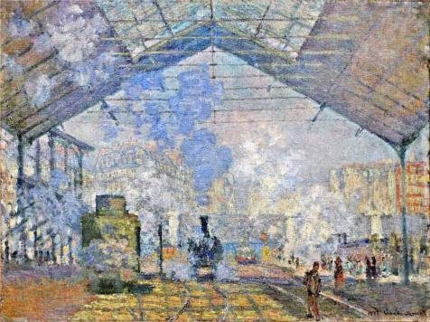 ['Saint-Lazare Station, Exterior View, 1877 By Claude Monet' Oil Painting, 8x11 Inch / 20x27 Cm ,printed On High Quality Polyster Canvas ,this High Definition Art Decorative Canvas Prints Is Perfectly Suitalbe For Bedroom Decoration And Home Decoration And] (Chicago The Musical Costume Ideas)