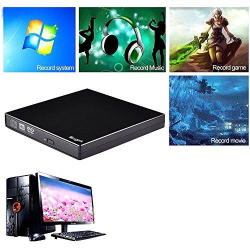 Mougerk USB External CD DVD Drive, Portable CD DVD Player +/-RW Drive DVD/CD Rom Rewriter Burner Writer For Win 7/8.1/10 Laptop Desktop PC of Lenovo HP Dell Asus Macbook Pro by Mougerk (Image #6)