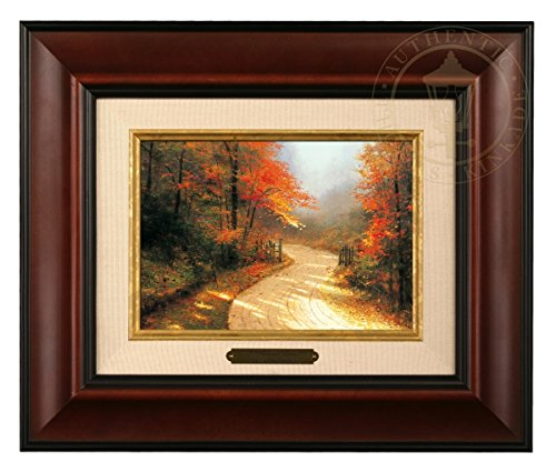 Thomas Kinkade Brushwork Autumn Lane (Burl Frame)