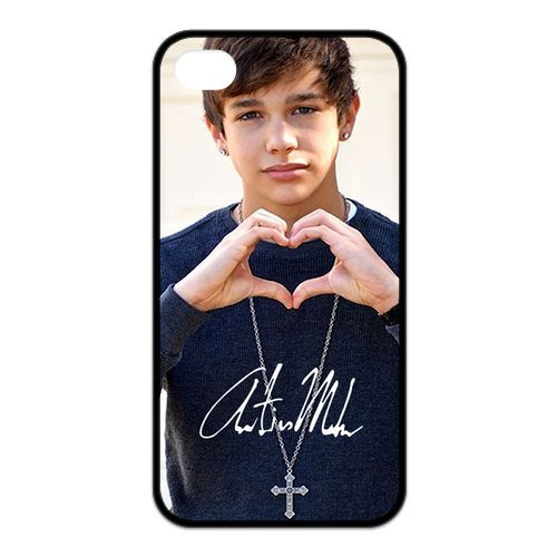 Fayruz- Austin Mahone Protective Hard TPU Rubber Cover Case for iPhone 4 / 4S Phone Cases A-i4K231
