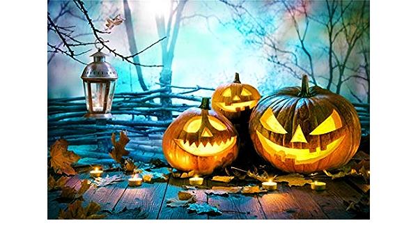 OERJU 15x10ft Happy Halloween Backdrop Jack Pumpkin Lanterns Haunt Castle Photography Background Trick or Treat Theme Halloween Party Decorat Newborn Baby Shower Wallpaper Kids Portrait Photo Prop
