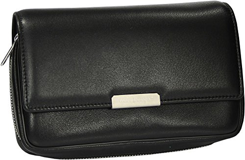 Martin Wess Germany ''Onyx'' Ultra Fine Nappa Leather 3 Pipe Bag Case by Martin Wess