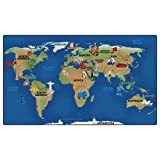 Carpets for Kids 3972 Printed Continental Wonders Kids Rug Size: 7' x 7' x, 7' x 12' , Blue