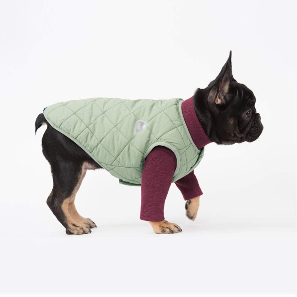 ABLJ ABLJ ABLJ clothes for pets Haustierkleidung Haustierkleidung Wasserdichte weiche warme Weste Vierfarbenhundekleidung Herbst- und Wintermodelle -M bfbc45