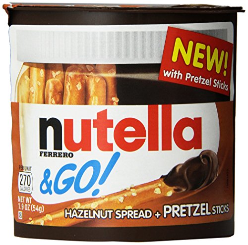 Ferrero Nutella and Go Hazelnut Spread with Pretzel Sticks, 1.9 oz. each, (Pack of 12)