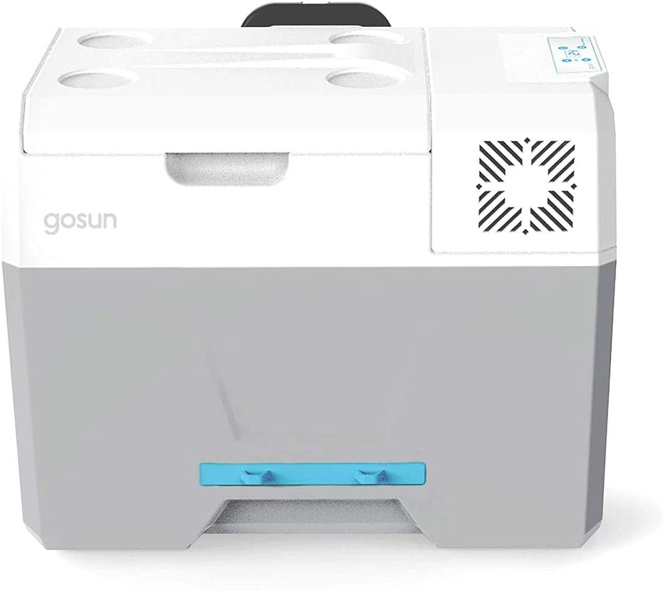 GOSUN Chill Cooler | Iceless Powered Cooler With Wheels - 12 Volt Refrigerator Ice Chest | 12v Beach Cooler & Solar Camping Equipment | No Ice Beverage Cooler Portable Refrigerator