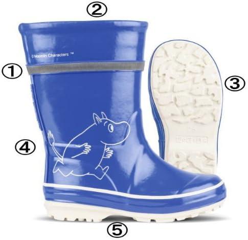 ノキアンフットウェア×ムーミン コラボラバーブーツ 長靴 (28(17.5~18.0cm), ブライトブルー)