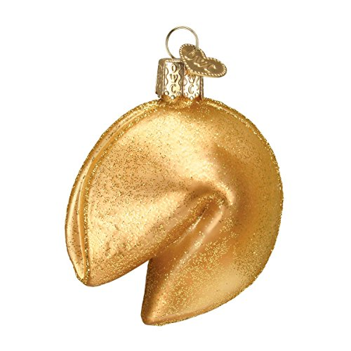 Old World Christmas Ornaments: Fortune Cookie Glass Blown Ornaments for Christmas Tree ()