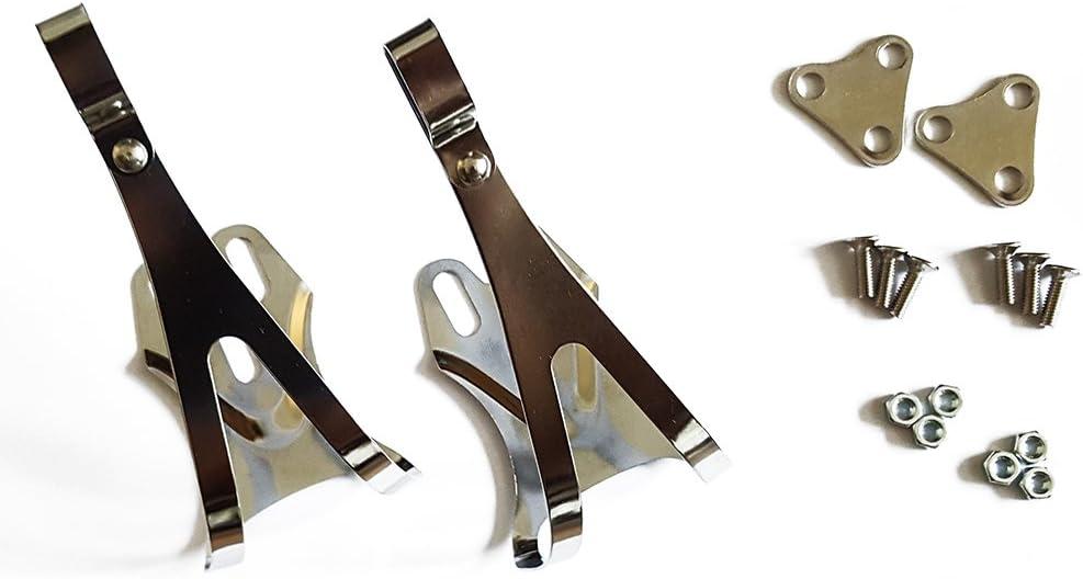 V PARTS - 309 : Par de calapies repuesto puntera cromo para pedal ...