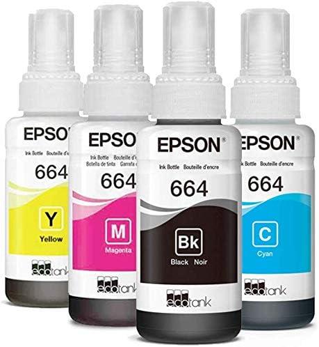 Getsingular Epson 664 Originales - Pack de 4 Botellas de tintas (T6641, T6642, T6643 y T6644) de 70 ml para impresoras Epson | 4 Unidades: Amazon.es: Hogar
