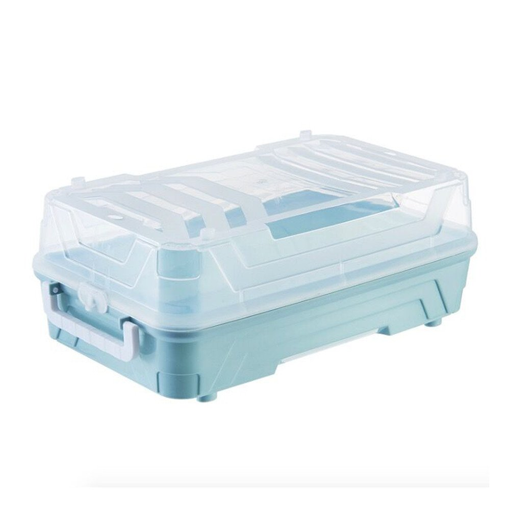 MEETEW Large Clear Transparent Storage Box, Toys, Jewelry Case, Surprise Dolls Case, Compartments Toy Storage Carrying Box Accessories For Surprise Dolls