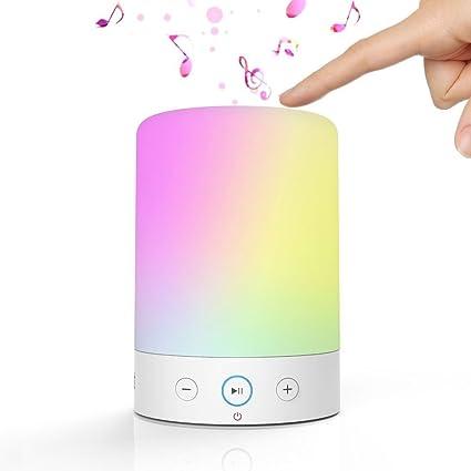 Amazon.com: DYTesa Portable Bluetooth Speaker lamp with Color ...