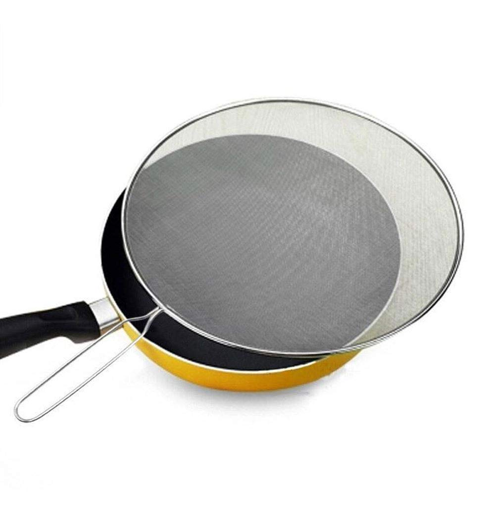 AWZSDF 13'' Stainless Steel Splatter Screen for Frying Pan Mesh - Food Grade Splatter Guard, Durable Universal Lid for Frying Pan, Skillet, Pot by AWZSDF