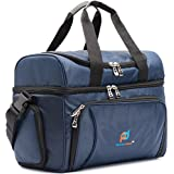 Cooler Bag. Dual Insulated Compartment. Heavy-Duty Polyester, High-Density Insulation, 2 Heat-Sealed Removable Thick Peva Liners. Multiple Pockets Strong Zipper And Stitching. Soft Cooler Lunch Box