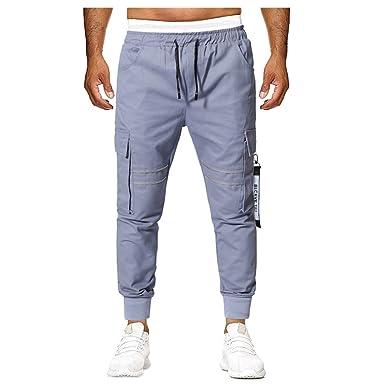 BOBOLover Pantalones Casuales De Hombre Pantalones con Costuras De ...