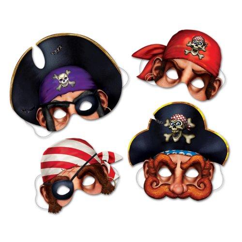 Pirate Halloween Masks (Pirate Masks   (4/Pkg))