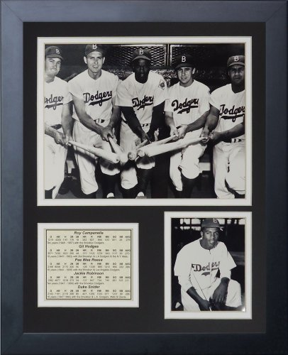 (Legends Never Die Brooklyn Dodgers 50's Big Five Framed Photo Collage, 11 by 14-Inch)
