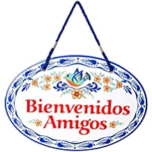 Essence of Europe Gifts E.H.G Bienvenidos Amigos Decorative Spanish Gift Outdoor Welcome Regalos Originales Latino Hispanic