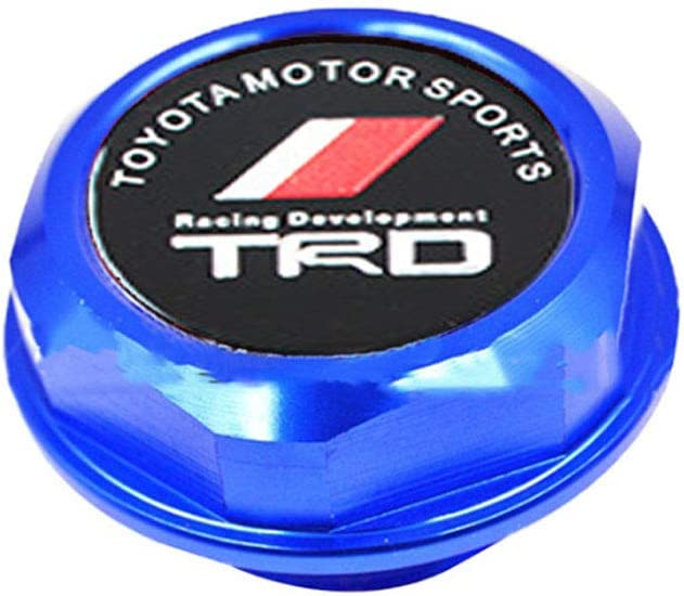 TRD Racing Stainless Steel Engine Oil Filler Cap Oil Tank Cover for TOYOT A TRD. TRD Blue