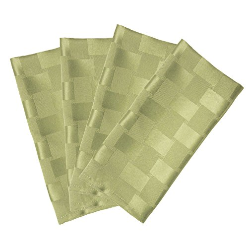 Bardwil Linens Reflections Set of 4 Napkins, Sage Reflections Solid Green