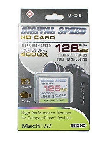 Digital Speed 4000X 128GB Professional High Speed Mach III 600MB/s Error Free CF