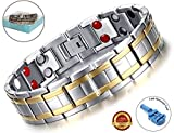 BisLinks® Health Magnetic Bracelet For Men & Women Titanium Carpal Tunnel Relief Arthritis Bio Therapy Chronic Pain Body Healing Germanium Negative Ion Stones Energy Element + FREE LINK REMOVAL TOOL