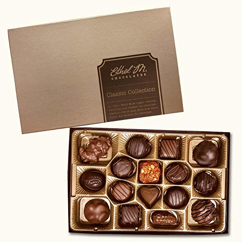 ETHEL M Chocolates Classic Collection Candy Gift Box 16Piece Premium Chocolate Assortment