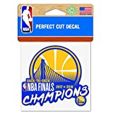 WinCraft Golden State Warriors Official NBA 4'' x 2018 National Champions Automotive Car Decal 4x4 by 262004