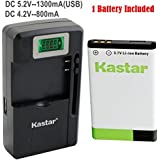 Kastar BL-5C Battery (1-Pack) and intelligent mini travel Charger ( with high speed portable USB charge function) for NOKIA 1100,2112,2270,2280,2285,2300,2600,2850,3100,3105,3120,3600,3620,3650,3660,5140,6108,6280,5030,5130,6030,6085,6086,6230,6230i,6267,6270,6555,6600,6630,6670,6680,6681,6820,6822,7600,7610,E50,E60,N70,N70 MusicEdition,N71,N72,N91,N91 8GB,N-Gage,XpressMusic,Degen and Meloson Portable AM/FM Radio --Supper Fast and Free Shipping from USA