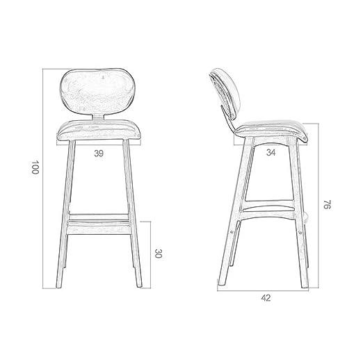 massif Chaises en bois déjeuner chaise de cuisine bar petit dChQrst