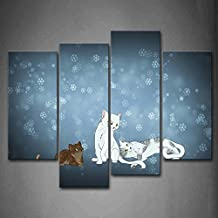 First Wall Art - Three Cats' Animation Wall Art Painting Pictures Print On Canvas Animal The Picture For Home Modern Decoration