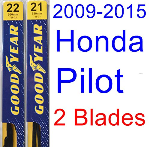 2009 2015 Honda Pilot Replacement Wiper Blade Set Kit Set Of 2 Blades Goodyear Wiper Blades
