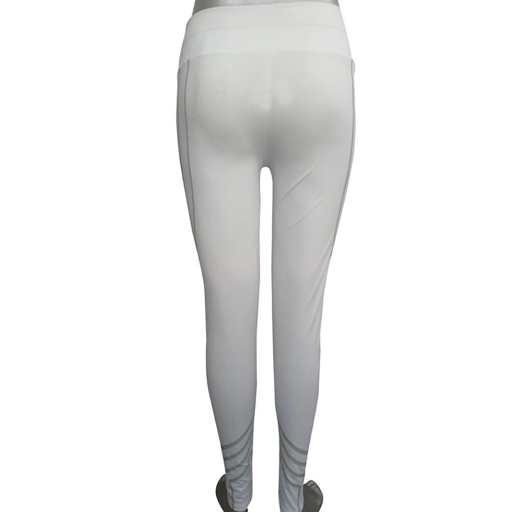 Leggings y Medias Deportivas, Xinan Mujeres Leggings Flacos de Malla de Rejilla Yoga Leggings Fitness Sports Pants