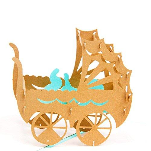 Paper Spiritz Pop up 3D Brithday Cards - Laser Cut Birthday Cards for Baby Women Kids Men Mom Wife Husband Son Him Dad - 3D Graduation Congratulations Love Thank You Cards