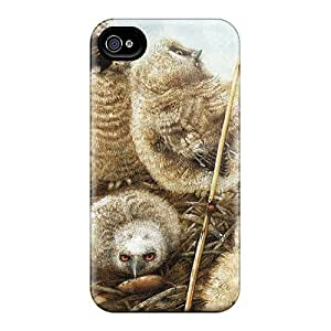 Durable Protector Case Cover With Owls In The Field Hot Design For Iphone 4/4s by icecream design
