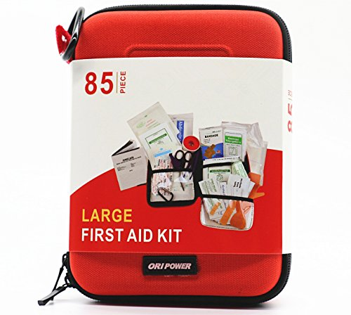 First Aid Kit Compact Survival Kit(2018 Upgraded) Emergency Kit Earthquake Survival kit Trauma Bag for Home Kids Camping Hiking Car Boat Business with Emergency Survival Gear by TRSCIND by TRSCIND