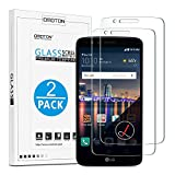 OMOTON [2-Pack] Tempered Glass Screen Protector Compatible LG Stylo 3, [Scratch Resistant] [High Definition] [Bubble Free] for LG Stylo 3, 5.7 inch