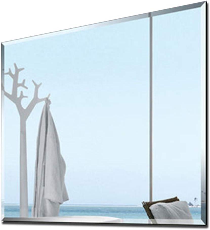 YANZHEN Espejo para Baño Coche Grabado Hipotenuse Perforadora Sencillo y Moderno Montura de Pared Maquillaje Espejo Plateado, 5 Tamaño: Amazon.es: Hogar